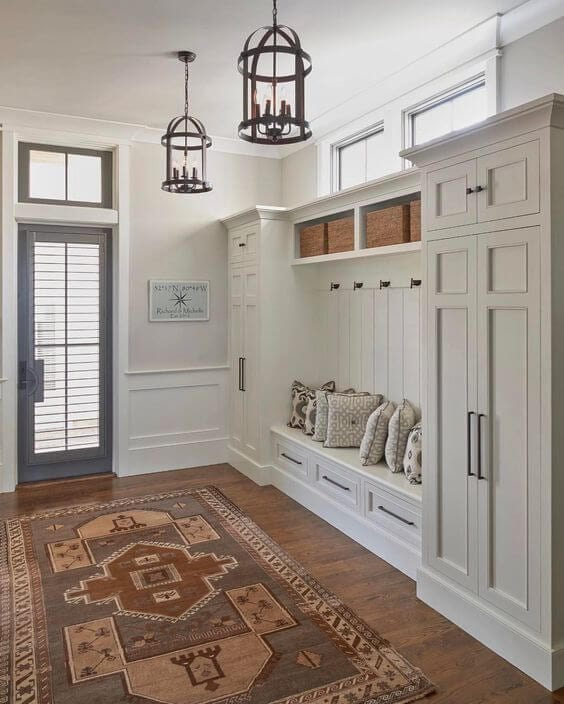 Mudroom Design in Maryland by Cyrus Construction