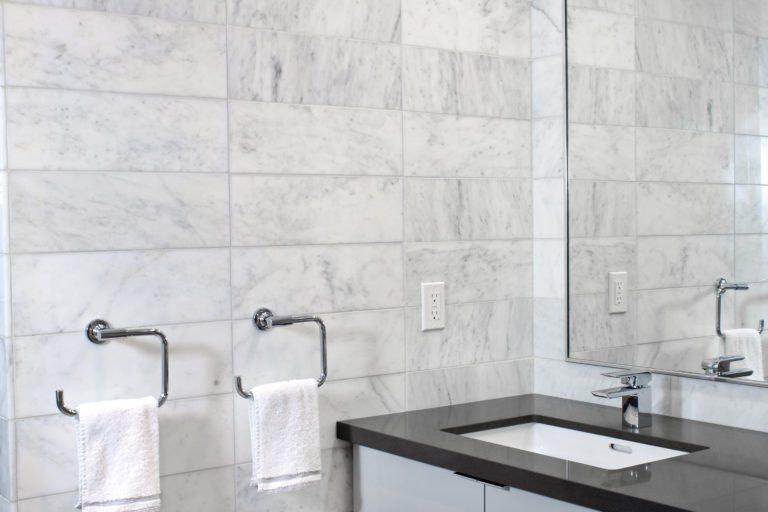 Bathroom remodeling white tiles